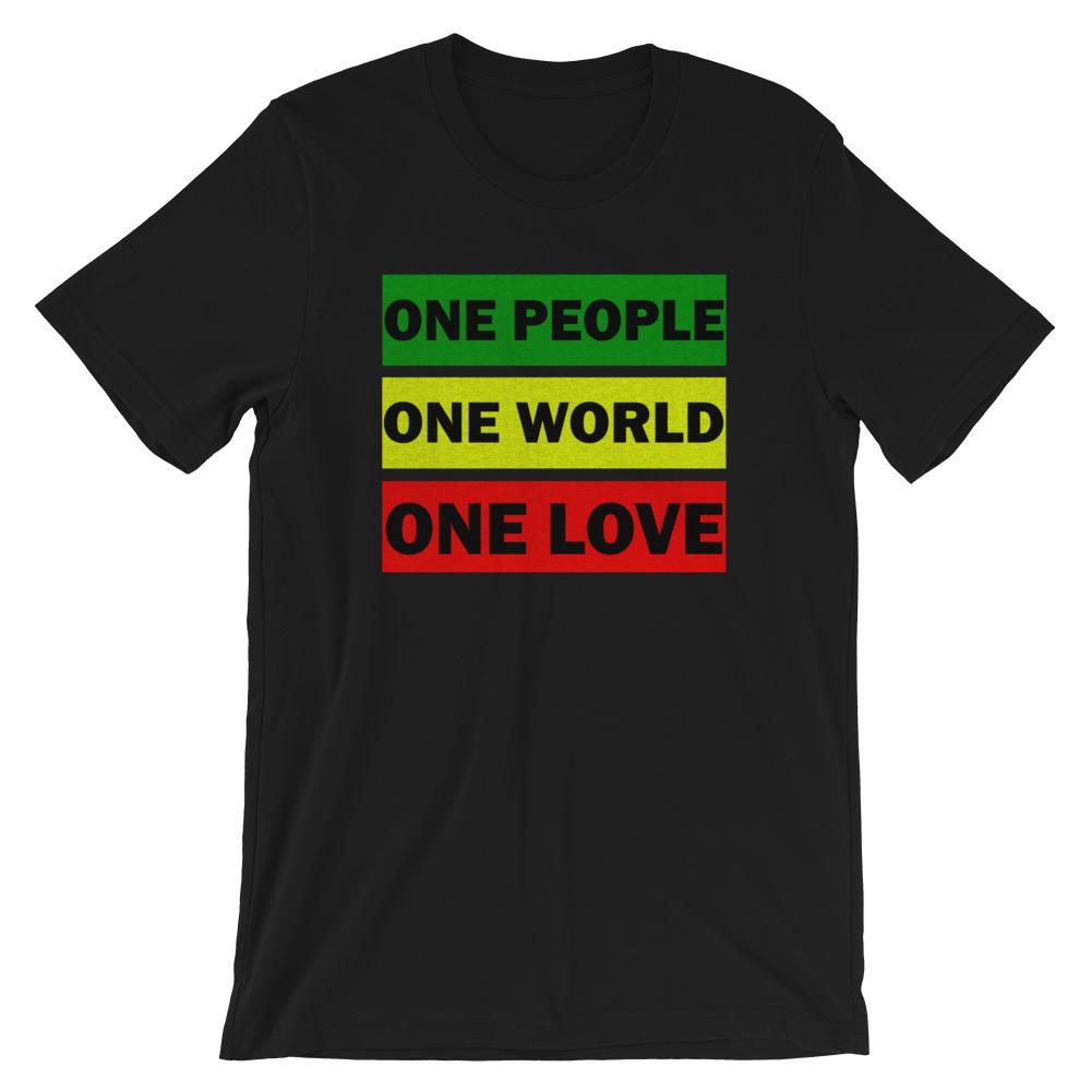 ONE WORLD ONE LOVE | Men's Tee EAST OF ALTA Black XS