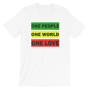 ONE WORLD ONE LOVE | Men's Tee EAST OF ALTA White XS