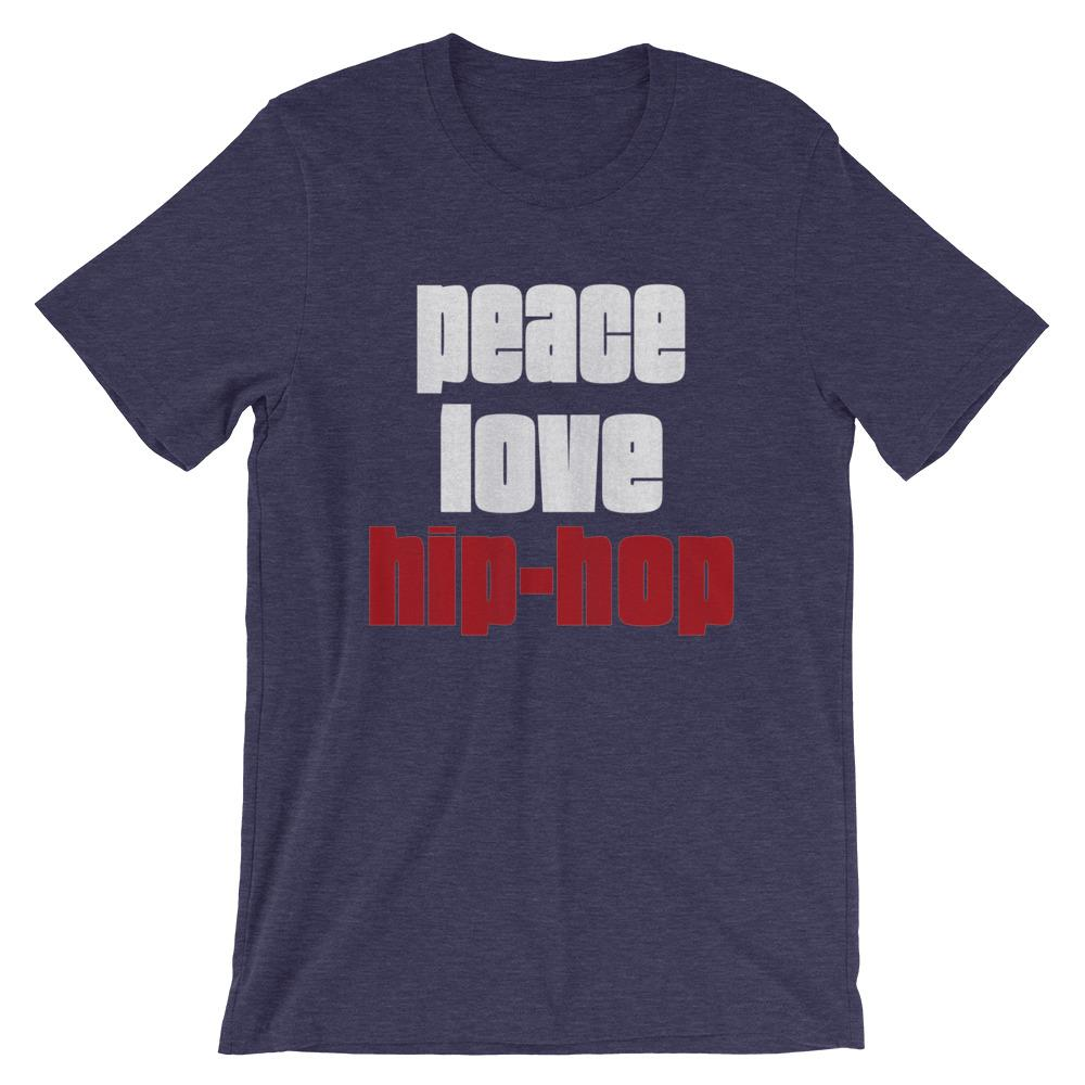 PEACE LOVE HIP-HOP | Men's Tee EAST OF ALTA Heather Midnight Navy S