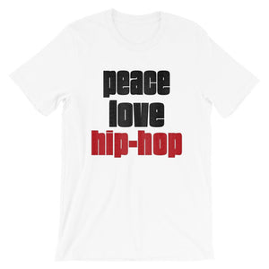 PEACE LOVE HIP-HOP | Men's Tee EAST OF ALTA White S