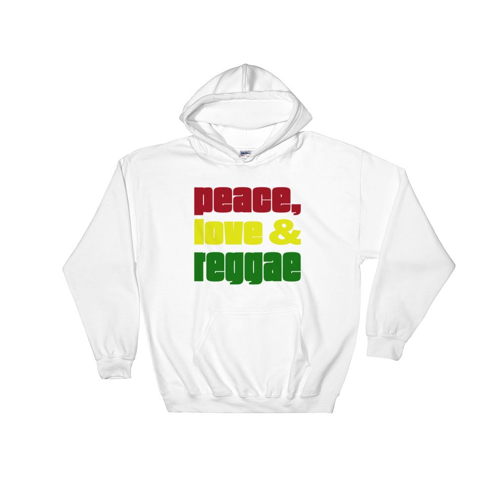 PEACE LOVE REGGAE | Hoodie EAST OF ALTA White S