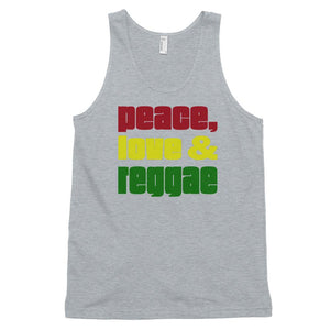 PEACE LOVE REGGAE | Men's Tank Top EAST OF ALTA Heather Grey XS