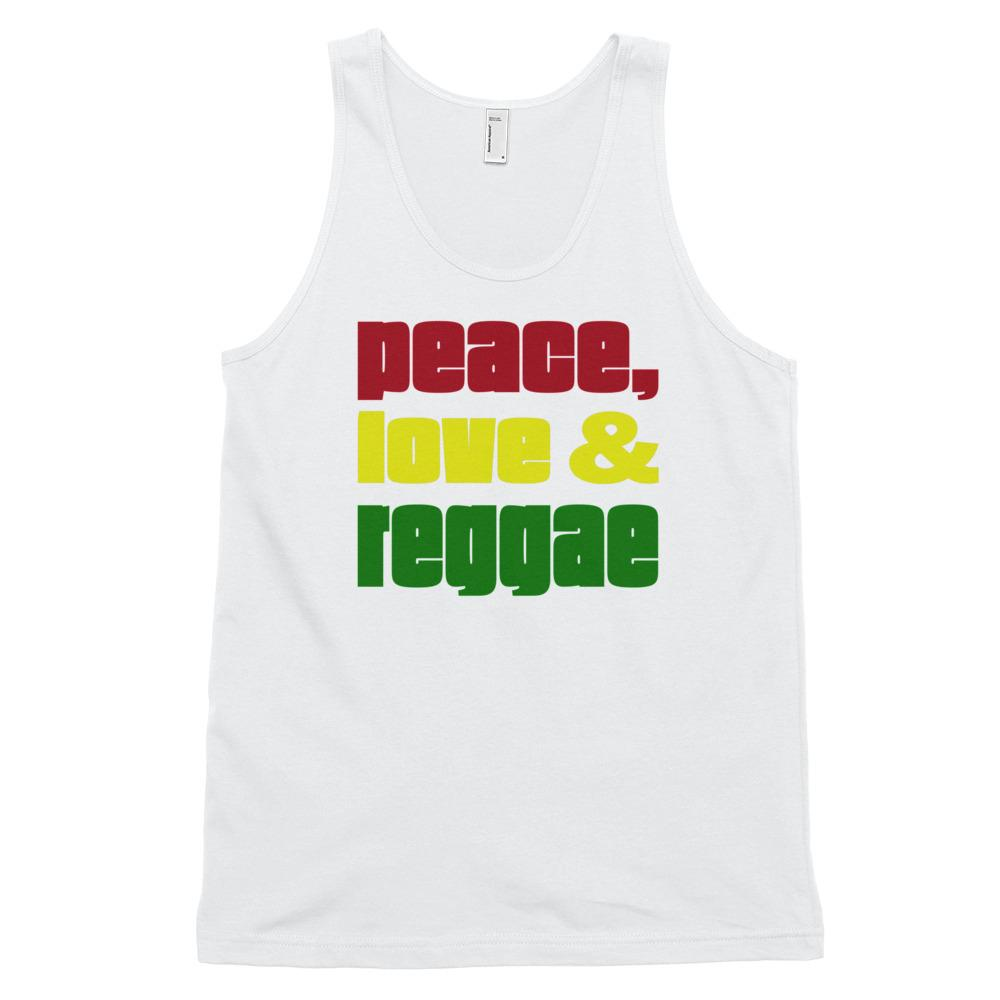 PEACE LOVE REGGAE | Men's Tank Top EAST OF ALTA White XS