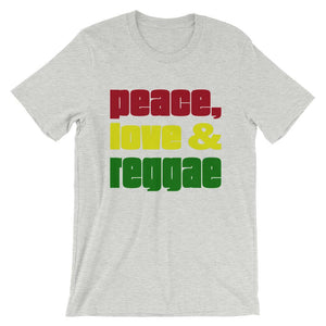 PEACE LOVE REGGAE | Men's Tee EAST OF ALTA Athletic Heather S