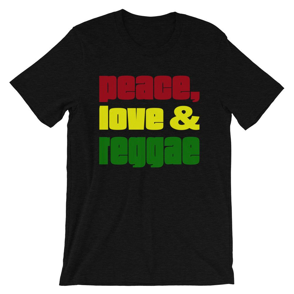 PEACE LOVE REGGAE | Men's Tee EAST OF ALTA Black Heather S