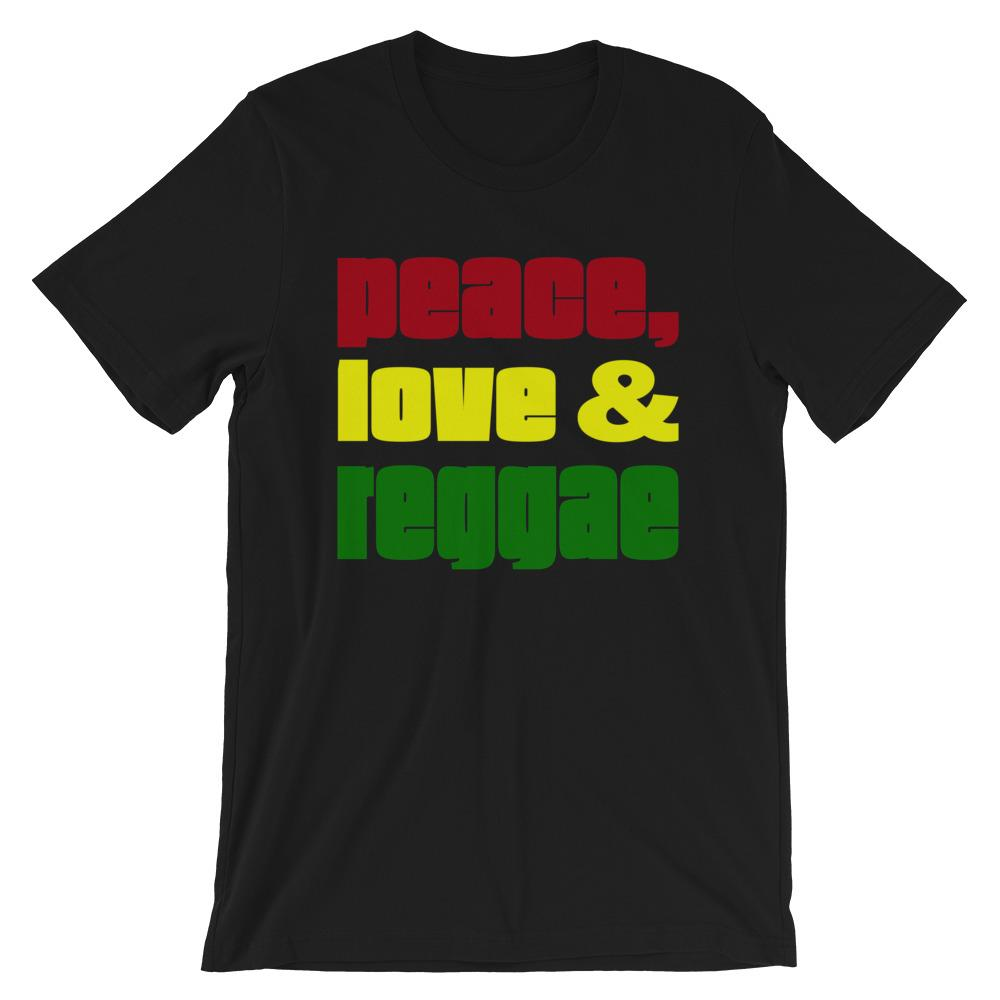 PEACE LOVE REGGAE | Men's Tee EAST OF ALTA Black S