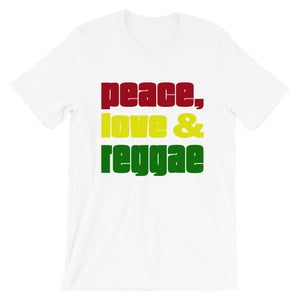 PEACE LOVE REGGAE | Men's Tee EAST OF ALTA White S
