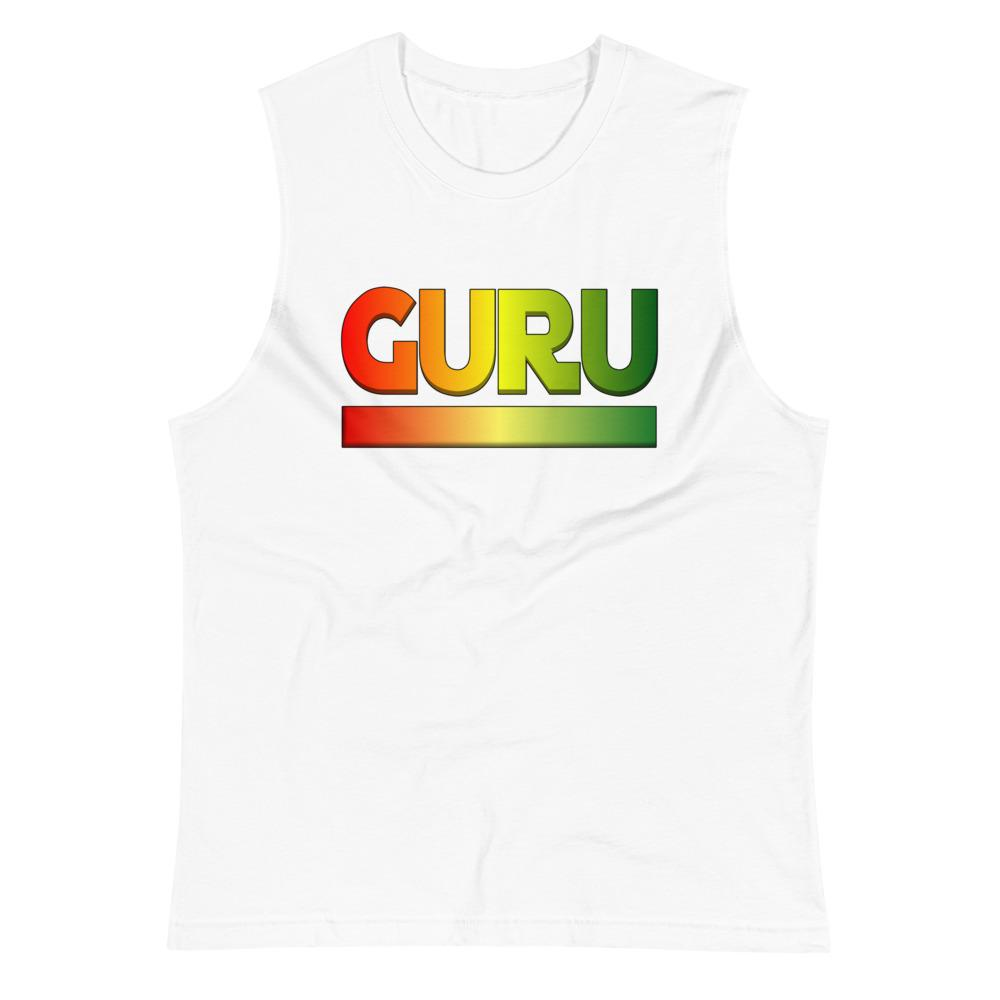 RASTA GURU | Men's Muscle Shirt EAST OF ALTA White S