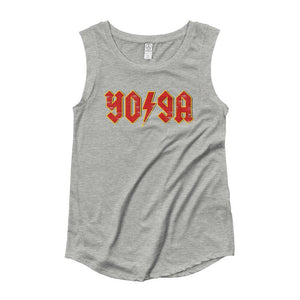 ROCK YOGA | Women's Cap Sleeve Tank Kundalini Market Heather Grey S