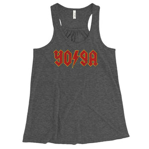 ROCK YOGA | Women's Racerback Tank Kundalini Market Dark Grey Heather XS