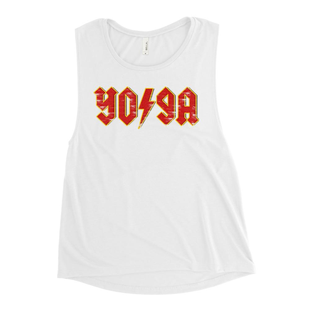 ROCK YOGA | Women's Scoop Tank Kundalini Market White S