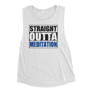 STRAIGHT OUTTA MEDITATION | Scoop Tank Kundalini Market White S