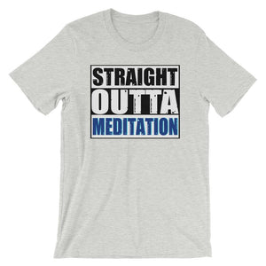 STRAIGHT OUTTA MEDITATION | Tee Kundalini Market Athletic Heather S