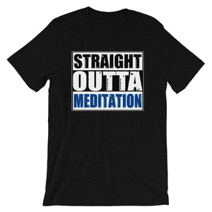 STRAIGHT OUTTA MEDITATION | Tee Kundalini Market Black Heather XS