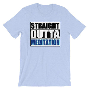 STRAIGHT OUTTA MEDITATION | Tee Kundalini Market Heather Blue S