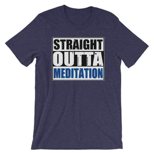 STRAIGHT OUTTA MEDITATION | Tee Kundalini Market Heather Midnight Navy XS
