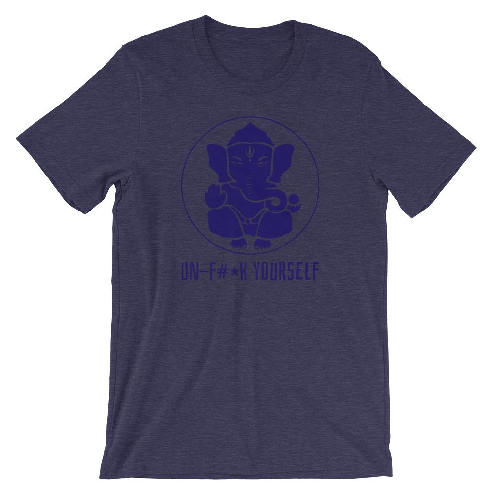 UN-F#*K YOURSELF | Men's Tee EAST OF ALTA Heather Midnight Navy S