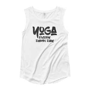 YOGA EVERY DAY | Women's Cap Sleeve Tank EAST OF ALTA White S
