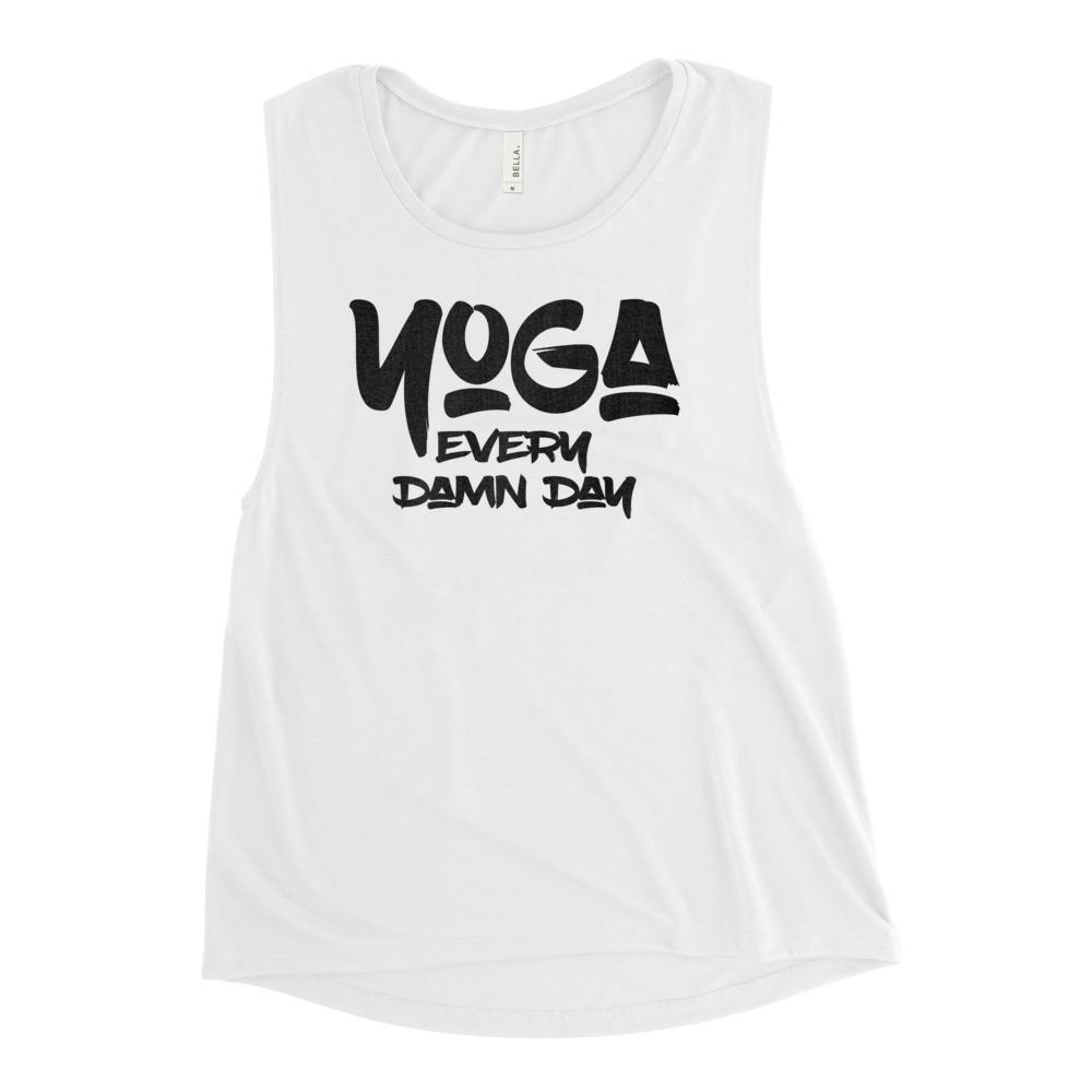 YOGA EVERY DAY | Women's Scoop Tank EAST OF ALTA White S