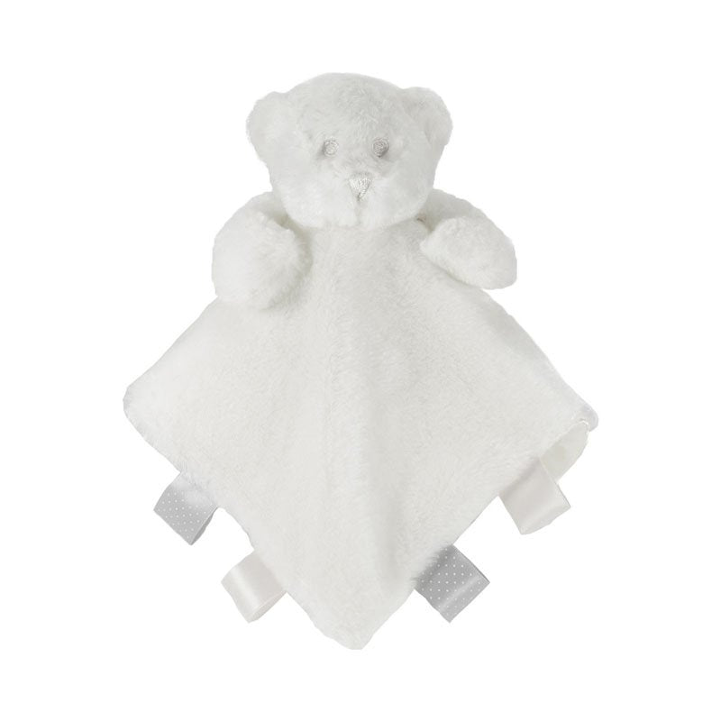 Soft White Bear Comforter With Ribbons