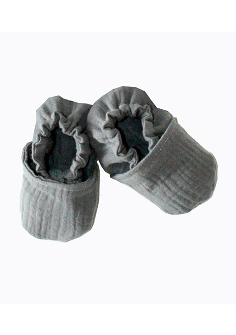 Chaussons souples 6-12 mois gris - Spoted
