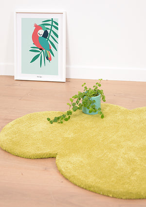 Tapis coton Forme nuage Palm green - Spoted