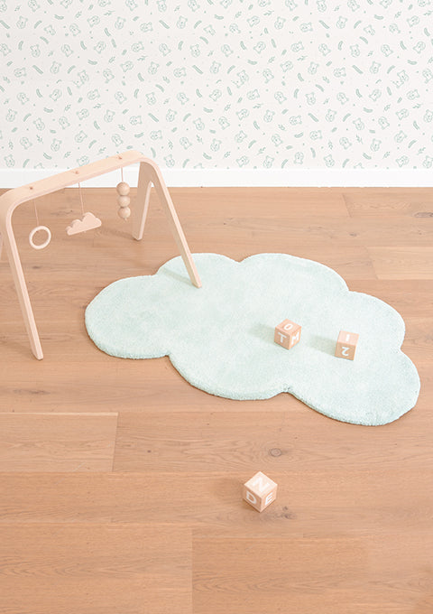 Tapis coton Forme nuage Morning mist - Spoted