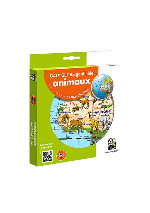 Animaux 30 cm Globe terrestre gonflable - Spoted