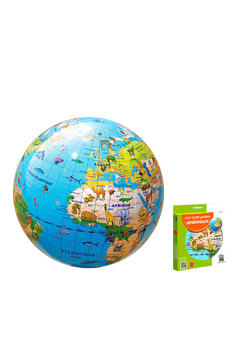 Animaux 30 cm Globe terrestre gonflable