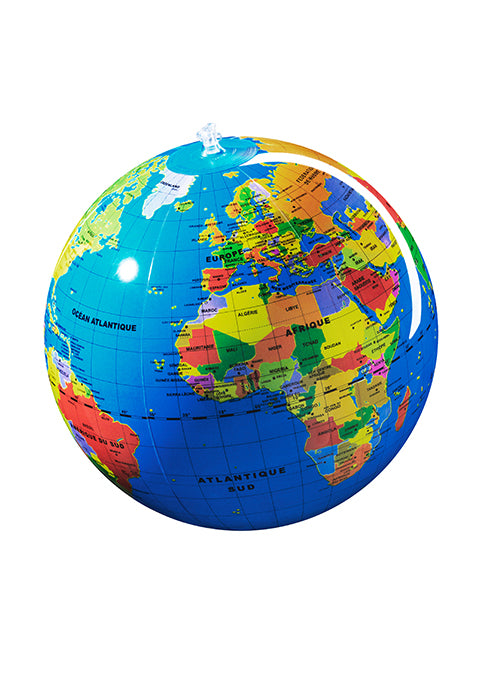 Pays 30 cm Globe terrestre gonflable