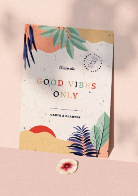 Carte à planter - Good vibes only