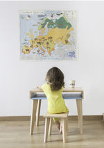 Bureau Trait d'union Bleu verditer - Spoted