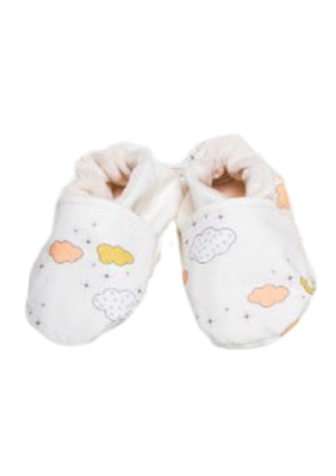 Chaussons souples 0-6 mois - nuages - Spoted