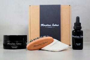 Coffret Huile, Masque et Brosse à barbe offerte - spoted