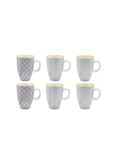 Lot de 6 tasses à café Eclipse - spoted