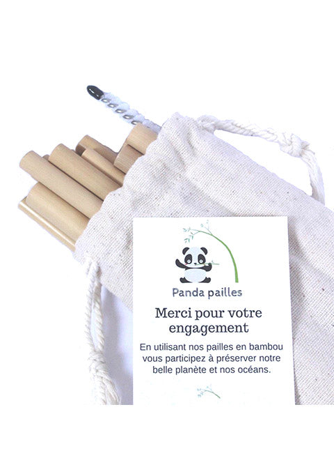 Kit d'implantation de 300 pailles en bambou