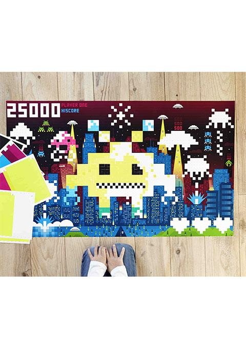 Poster géant et 1600 stickers Pixel Art - Spoted