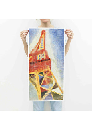 Grand Poster et 2400 stickers Tour Eiffel - Spoted