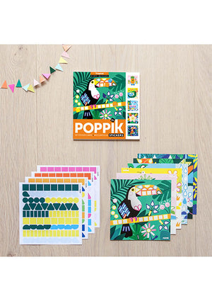 6 Cartes et 360 gomettes Tropical - Spoted