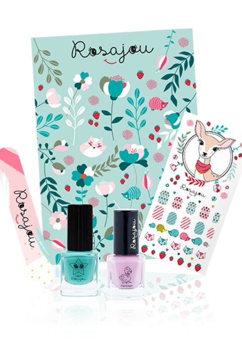 "Kit Jolis Ongles ""Flamingo"" + ""Lagon"""