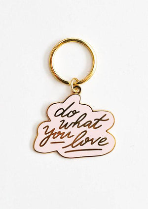 Porte clé en émail Do What You Love - Spoted
