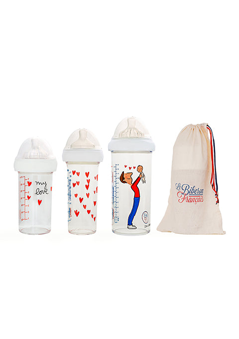 Biberon 360 ml Papa-bébé - Spoted