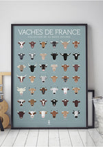 Affiche Vaches de France - Spoted
