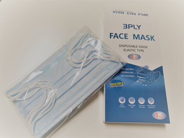 3PLY Face Mask - 5 pack