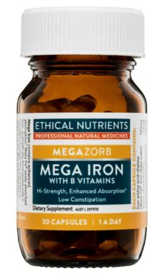 Ethical Nutrients - Megazorb Mega Iron with Activated B Vitamins 30 caps