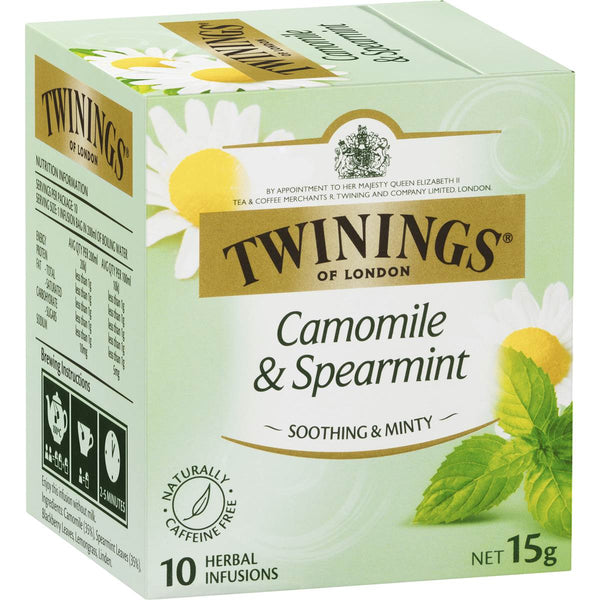 Twinings Camomile & Spearmint Tea Bags 10pk