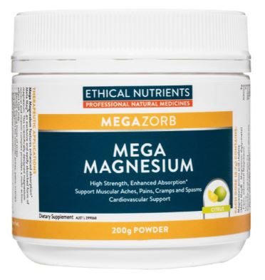 Ethical Nutrients - Megazorb Mega Magnesium Powder (Citrus) 200g