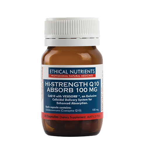 Ethical Nutrients - Hi-Strength Q10 Absorb 100mg 30 caps