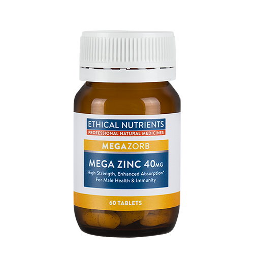 Ethical Nutrients - Megazorb Mega Zinc 40mg 60 tabs
