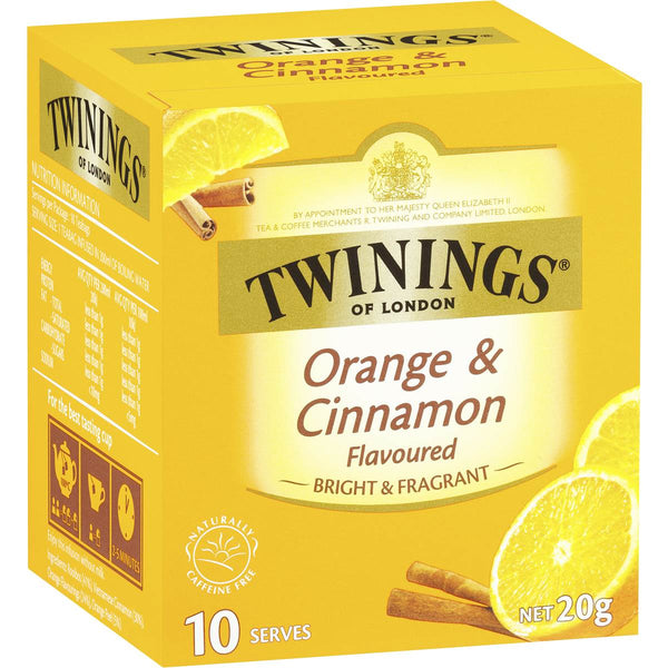 Twinings Orange & Cinnamon Tea 10pk